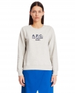 Tina Sweatshirt In Ecru Cotton