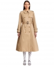 Trench in Cotone Miele