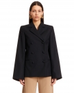 Cinch Blazer with Wide Sleeves
