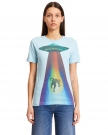 Blue Cotton UFO T-Shirt