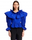 Blusa con Rouches in Crepe