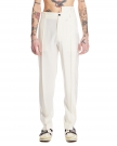 White Wool Tailored Trousers