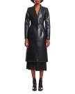 Faux Leather Sartorial Coat