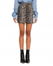 MiniGonna in Denim Animalier