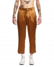 Beige Triacetate Crop Pants