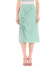 Water Green Ruched Skirt