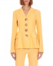 Mixed Yellow Linen Blazer