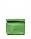 Lunch Clutch in Green Leather