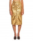Gold Faux Nappa Skirt