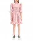 Dress in Pink Laminated Fabric