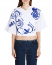 Flower Embroided Cotton Top