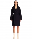 Navy Blue Wool Trench Coat